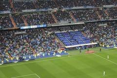 Santiago Bernabeu Stadium during a Real Madrid match in 2016 stock photos