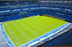 Santiago Bernabeu Stadium of Real Madrid, Spain. Real Madrid C.F. was established in 1902. It is the best club of XX century according to FIFA stock images