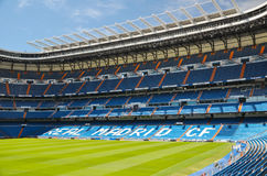 Santiago Bernabeu Stadium of Real Madrid, Spain. Real Madrid C.F. was established in 1902. It is the best club of XX century according to FIFA royalty free stock photo