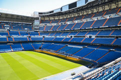 Santiago Bernabeu Stadium of Real Madrid, Spain. Real Madrid C.F. was established in 1902. It is the best club of XX century according to FIFA royalty free stock image
