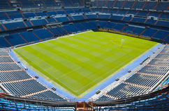 Santiago Bernabeu Stadium of Real Madrid, Spain. Real Madrid C.F. was established in 1902. It is the best club of XX century according to FIFA royalty free stock photography