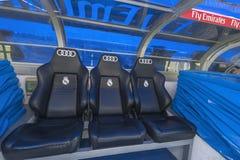 At Santiago Bernabeu Stadium stock images