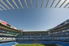 Santiago Bernabeu stadium. At the tribune of Santiago Bernabeu stadium stock image