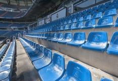 Santiago Bernabeu stadium. At the tribune of Santiago Bernabeu stadium royalty free stock photography