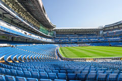 Santiago Bernabeu stadium. At the tribune of Santiago Bernabeu stadium royalty free stock image