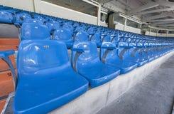 Santiago Bernabeu stadium. At the tribune of Santiago Bernabeu stadium royalty free stock photos