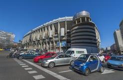 Santiago Bernabeu Stadium. View on Santiago Bernabeu stadium from the parking royalty free stock image