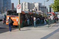 Santiago Bus Stock Afbeelding
