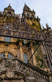 Santiago Cathedral Entrance Royalty Free Stock Photography