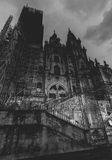 Santiago Cathedral at Night Stock Photos