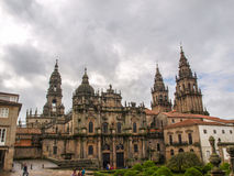 Santiago cathedral side view Stock Images