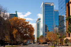 Santiago, Chile. The wealthy financial district of Isidora Goyenechea, Las Condes, Santiago, Chile, South America Stock Photography