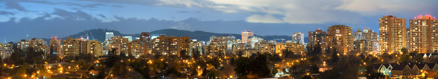Santiago, Chile. Stitched panorama of Las Condes district, Santiago, Chile, South America Stock Photo