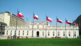 View of the Chilean presidential palace, La Moneda in Santiago - Chile stock photos