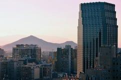 Santiago, Chile, from the Cerro Santa Lucia. stock images