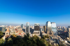 Santiago Chile Cityscape Royalty Free Stock Images