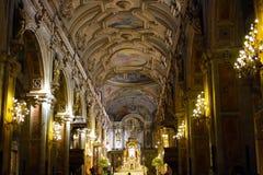 SANTIAGO, CHILE - 15 DE JUNIO: Catedral metropolitana de Santiago, C imagen de archivo
