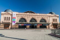SANTIAGO, CHILE - MARCH 28, 2015: Building of Estacion Mapocho, former train station, refitted as a cultural centr. E royalty free stock photo