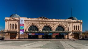 SANTIAGO, CHILE - MARCH 28, 2015: Building of Estacion Mapocho, former train station, refitted as a cultural centr. E royalty free stock photos