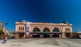 SANTIAGO, CHILE - MARCH 28, 2015: Building of Estacion Mapocho, former train station, refitted as a cultural centr. E stock photo