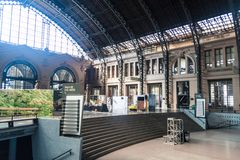 SANTIAGO, CHILE - MARCH 28, 2015: Building of Estacion Mapocho, former train station, refitted as a cultural centr. E stock images