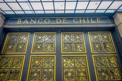 SANTIAGO, CHILE - 16. OKTOBER 2018: Bank von Chile-Gebäude in Santiago von Chile lizenzfreie stockfotografie