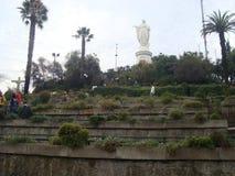 Santiago - Chile. Serro San Cristobal in Santiago Stock Image