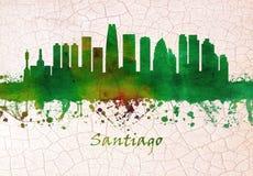 Santiago Chile Skyline illustration de vecteur