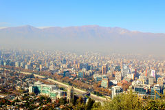 Santiago, chile. View from Cerro San Cristobal. Royalty Free Stock Photo