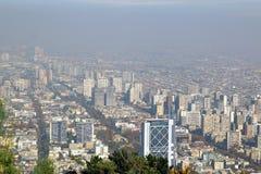 Santiago, chile. View from Cerro San Cristobal. Stock Photos