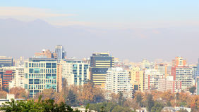 Santiago, chile. View from Cerro San Cristobal. Royalty Free Stock Photos