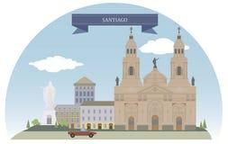Santiago, Chili stock illustratie