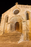 Santiago Church of Coimbra at night, Portugal Stock Photo