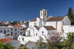 Santiago Church - Igreja de Santiago, Tavira, Portugal fotografia de stock