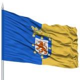 Santiago City Flag sur le mât de drapeau Photos libres de droits