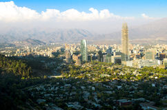 Santiago cityscape daylight Royalty Free Stock Images