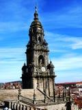 Santiago compostela cathedral. Detail Santiago compostela cathedral tower, galicia spain Royalty Free Stock Photos