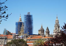 Santiago Compostela Cathedral - Spain Royalty Free Stock Photography