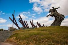 SANTIAGO, CUBA: Antonio Maceo Monument em Santiago de Cuba O general Maceo era um líder famoso da independência da guerrilha A es foto de stock royalty free