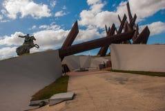 SANTIAGO, CUBA : Antonio Maceo Monument en Santiago de Cuba Le Général Maceo était un chef célèbre de l'indépendance de guériller Image stock