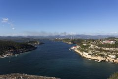 Panoramic view from the castle Royalty Free Stock Images