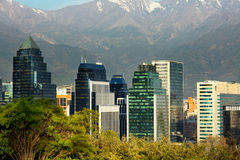 Santiago de Chile. Skyline of Santiago de Chile Royalty Free Stock Photo