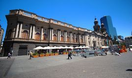 Santiago de Chile. View of Plaza de Armas (Santiago de Chile, Chile stock image