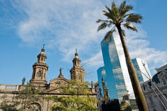 Santiago de Chile. The Cathedral of Santiago de Chile Royalty Free Stock Photos