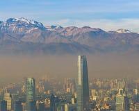 Santiago de Chile Aerial View de San Cristobal Hill foto de stock