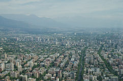 Santiago de Chile aerial view from Sky Costanera, Santiago, Chile. Stock Images