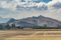 Santiago de Chile Airport, Chili Photographie stock