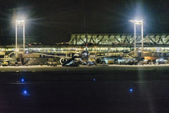 Santiago de Chile Airport la nuit Photo stock