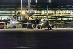 Santiago de Chile Airport na noite Foto de Stock Royalty Free