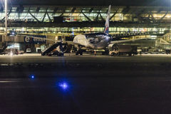 Santiago de Chile Airport na noite Fotografia de Stock Royalty Free